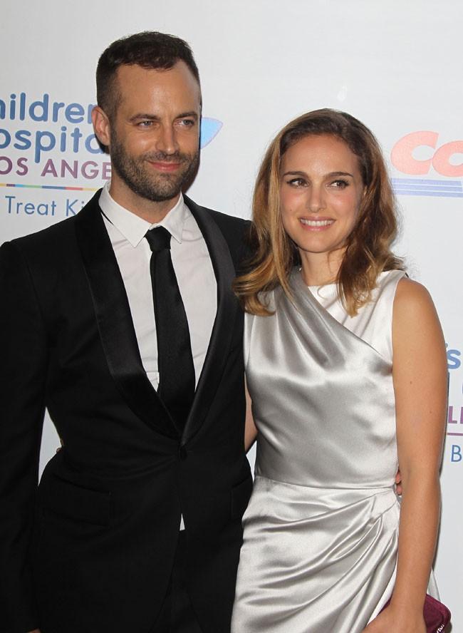 Natalie Portman et Benjamin Millepied à Los Angeles le 11 octobre 2014