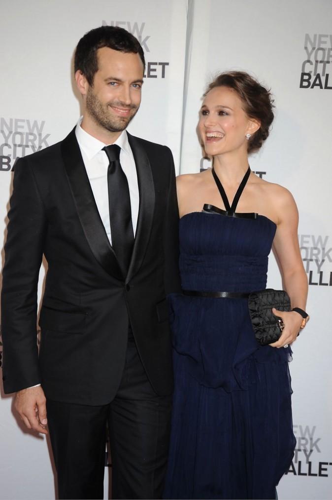 Natalie Portman et Benjamin Millepied lors du NYC Ballet's Gala à New York, le 10 mai 2012.
