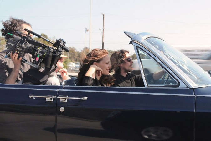 Natalie Portman sur le tournage de Knight of Cups le 4 juin 2012 à Los Angeles