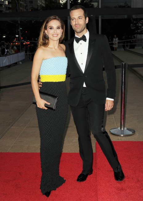 Natalie Portman et Benjamin Millepied lors du gala du New York City Ballet, le 19 septembre 2013.