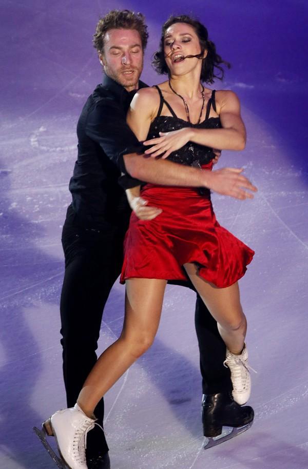 Nathalie Péchalat et Fabian Bourzat au gala de clôture du Trophée Bompard organisé à Bordeaux le 23 novembre 2014