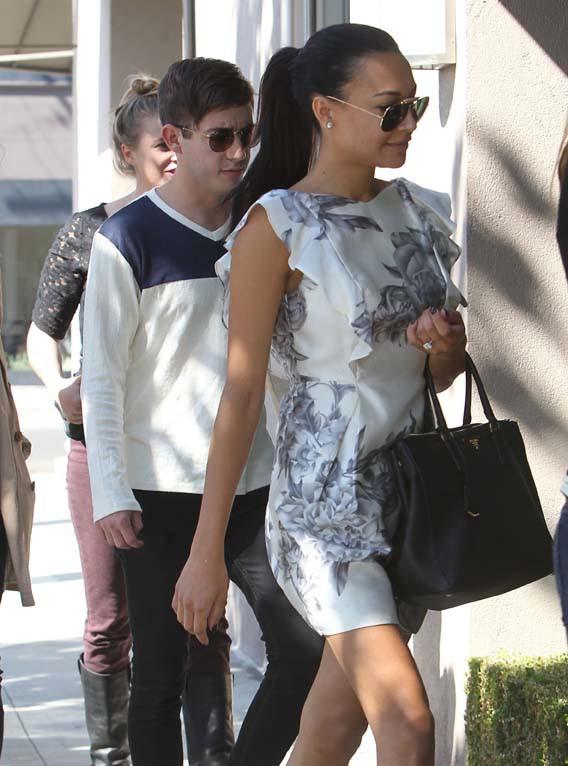 Naya Rivera à Beverly Hills avec son co-star de Glee Kevin McHale le 12 octobre 2013
