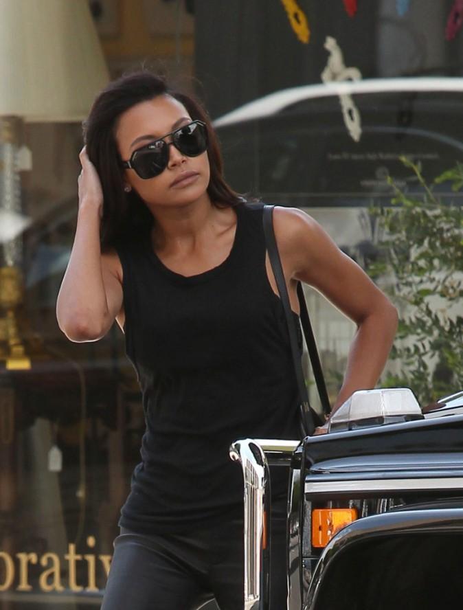 Naya Rivera toute triste le 28 juillet à Los Angeles