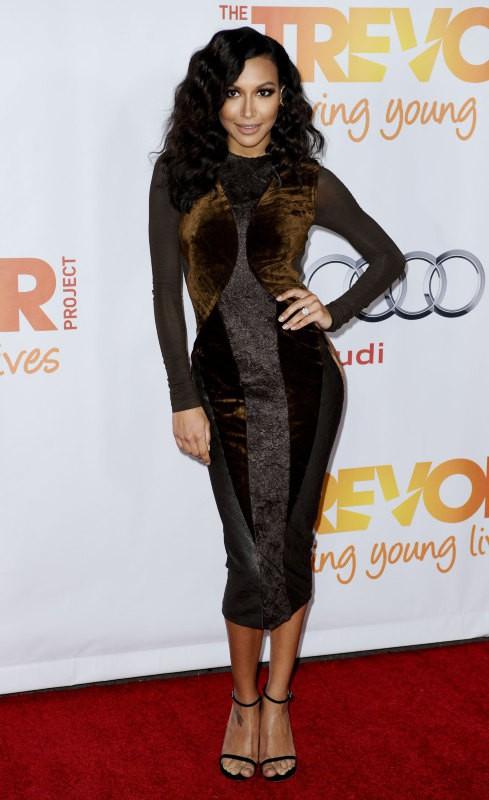 """Naya Rivera lors de la soirée """"TrevorLIVE LA"""" à Hollywood, le 8 décembre 2013."""