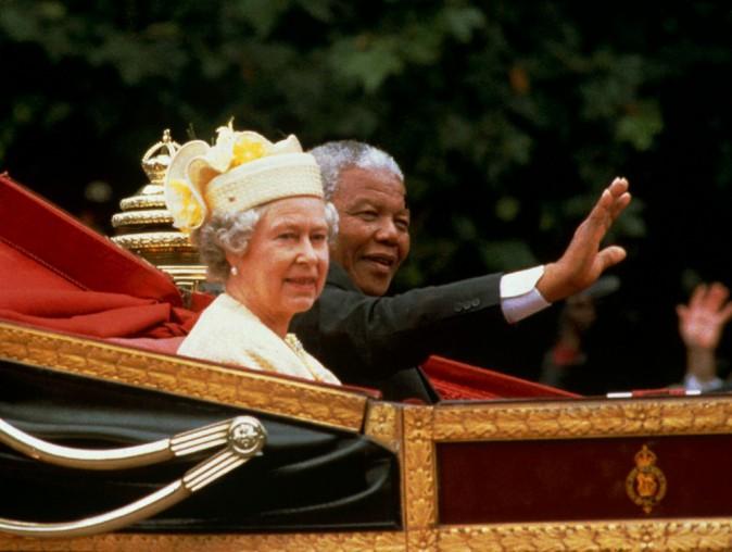 Nelson Mandela et la Reine Elizabeth 2
