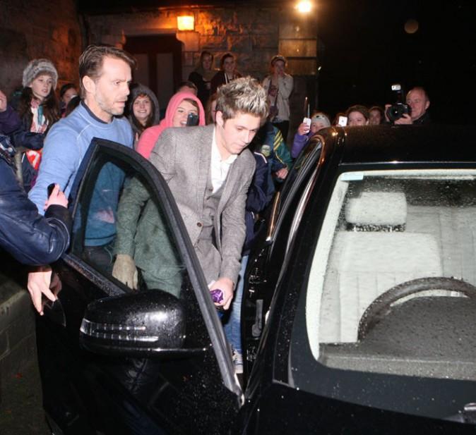 Niall Horan au baptême de son neveu Theodore, à Dublin, le 9 novembre 2013
