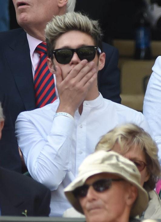 Niall Horan et Liam Payne à Wimbledon le 26 juin 2014