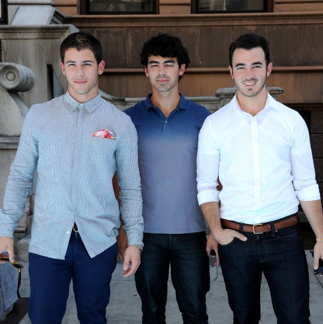 Les Jonas Brothers, Los Angeles, 15 septembre 2012.