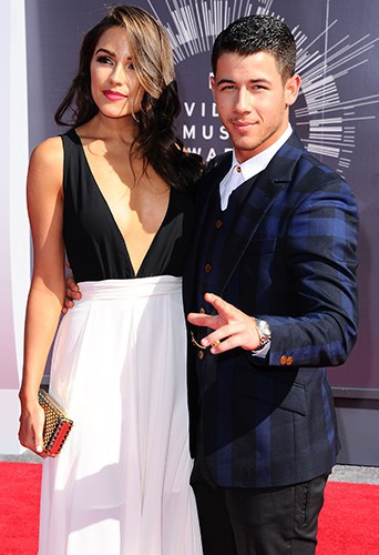 Nick Jonas et Olivia Culpo à Los Angeles le 24 août 2014