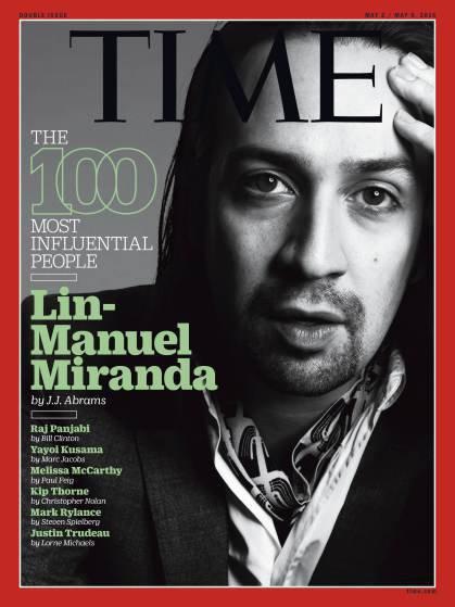 """Photos : Lin-Manuel Miranda parmi les personnalités les plus influentes du """"Time"""""""