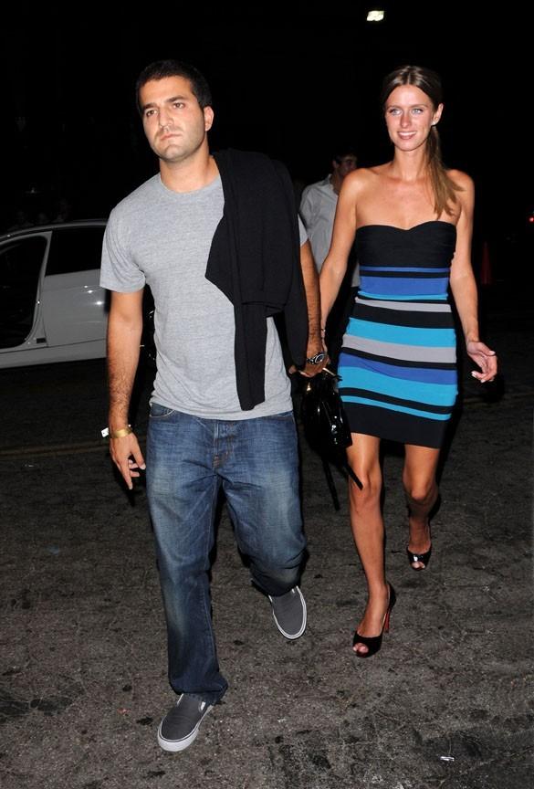 Nicky Hilton et David Katzenberg lors de la soirée Apple Lounge Grand Opening Party à Los Angeles, le 14 août 2008.