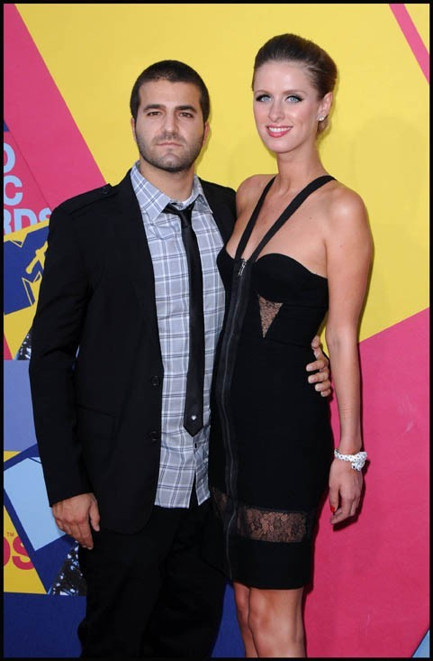 Nicky Hilton et David Katzenberg lors des MTV Video Music Awards 2008 à Hollywood, le 7 septembre 2008.