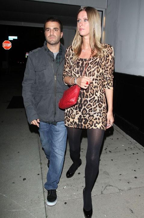 Nicky Hilton et David Katzenberg sortant du restaurant Philippe Chow à West Hollywood, le 7 janvier 2011.