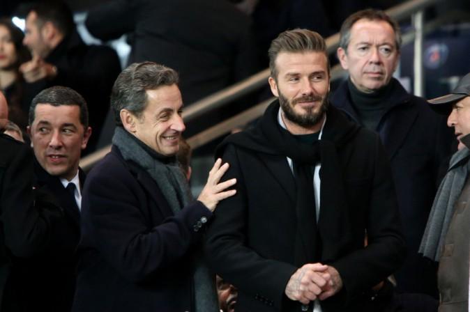 Nicolas Sarkzoy et David Beckham
