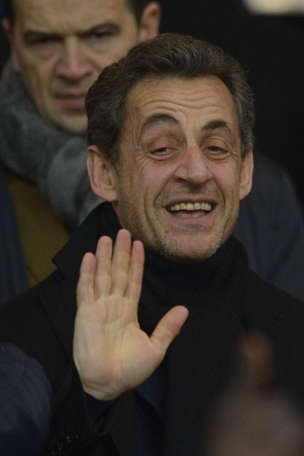 Nicolas Sarkozy au Parc des Princes, à Paris, le 24 février 2013