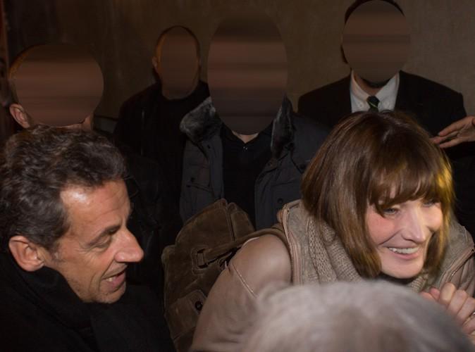 Nicolas Sarkozy et Carla Bruni-Sarkozy à Lyon le 23 janvier 2014