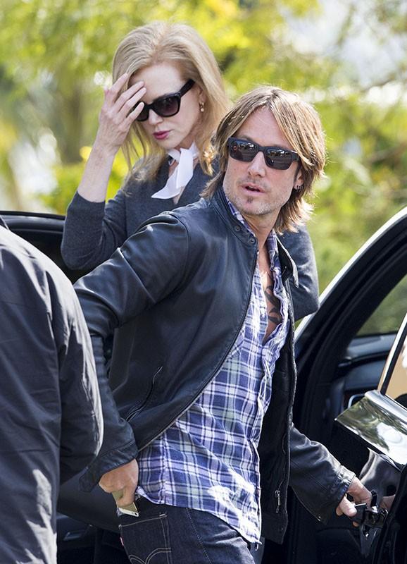 Nicole Kidman et Keith Urban en Australie pour les obsèques du père de la star