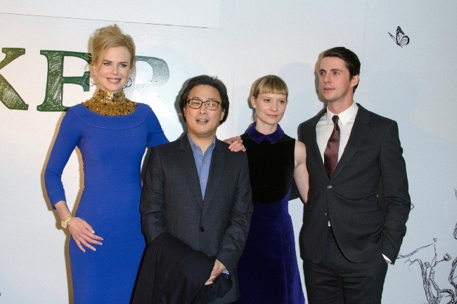 Nicole Kidman, Park Chan-Wook, Mia Wasikowska et Matthew Goode lors de la première du film Stoker à Londres, le 17 février 2013.
