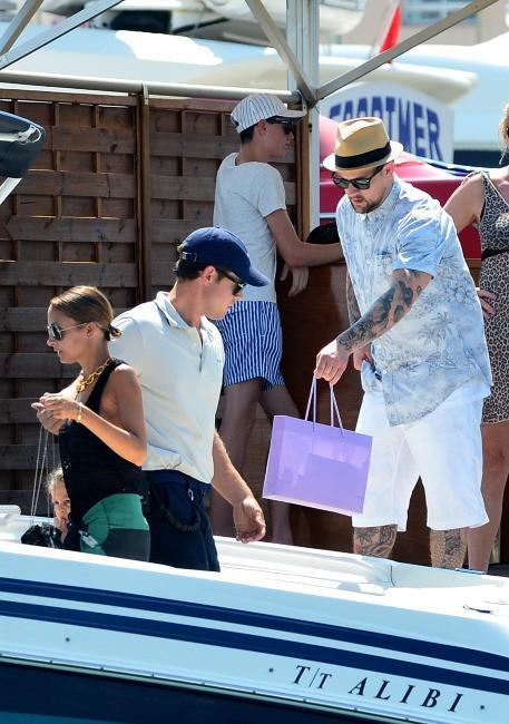 Nicole Richie en vacances en famille à St. Tropez, le 23 juillet 2013.