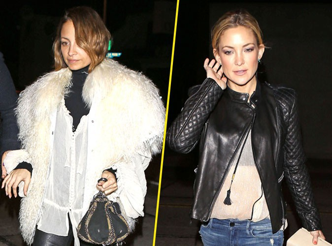 Nicole Richie et Kate Hudson à West Hollywood, le 5 février 2014.