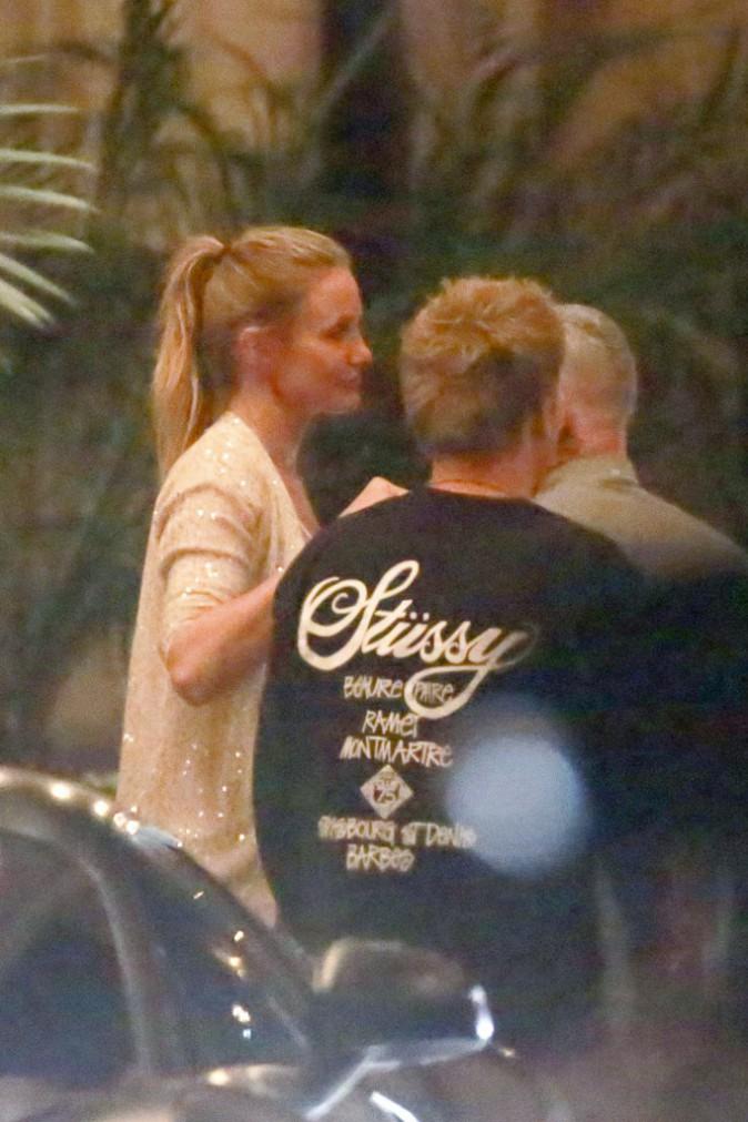 Cameron Diaz à la sortie d'un restaurant de Beverly Hills le 16 août 2015