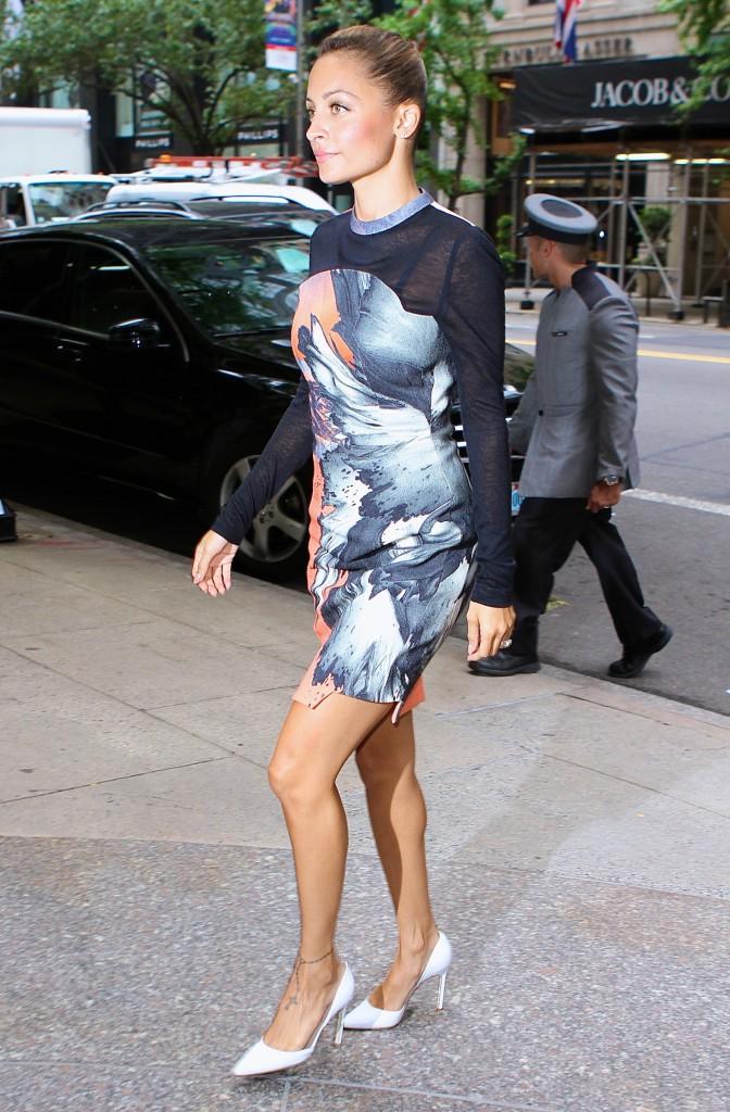 Nicole Richie de retour à son hôtel de New-York le 8 août 2013
