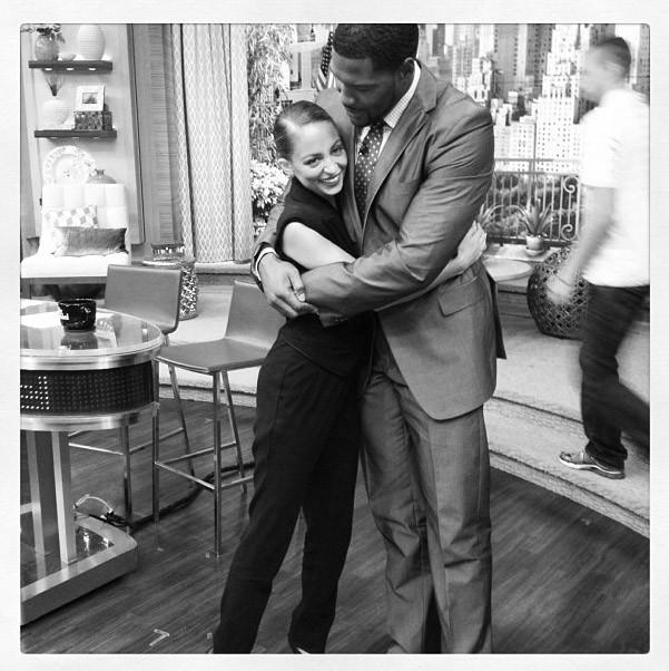Nicole Richie sur le plateau de Live With Kelly & Michael à New-York le 8 août 2013