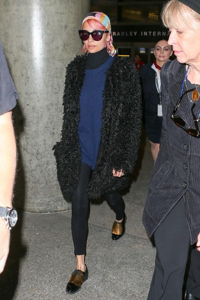 Nicole Richie à l'aéroport de Los Angeles le 1er février 2015