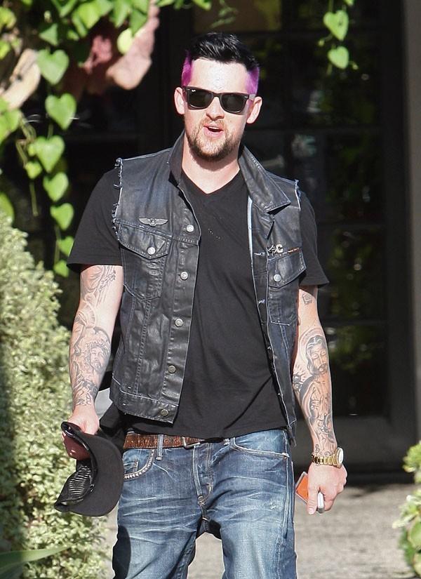 Joel Madden à la sortie de chez le coiffeur le 8 août 2012