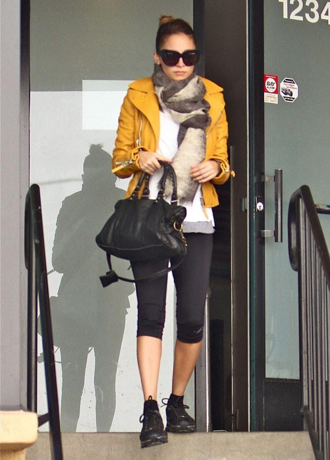 Nicole Richie à la sortie de sa salle de gym de Los Angeles le 21 novemvre 2012