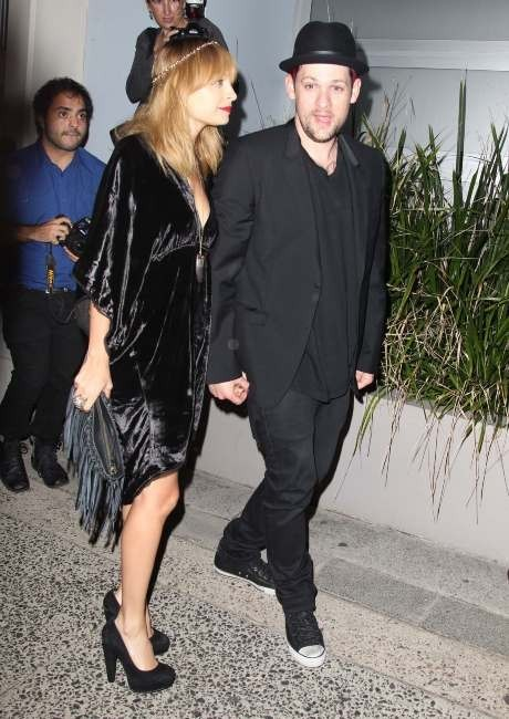 Nicole Richie et Joel Madden se rendant à la cocktail party de The Voice Australie à Sydney, le 9 mai 2012.