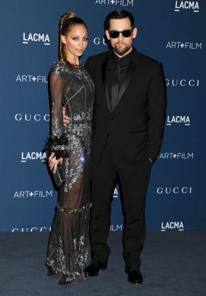 """Nicole Richie et Joel Madden lors du gala """"LACMA Art + Film 2013"""" à Los Angeles, le 3 novembre 2013."""