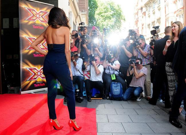 Nicole Scherzinger lors de la conférence de presse de l'émission X Factor à Londres, le 29 août 2013.