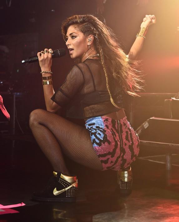 Nicole Scherzinger en concert au club G-A-Y de Londres le 13 juillet 2014