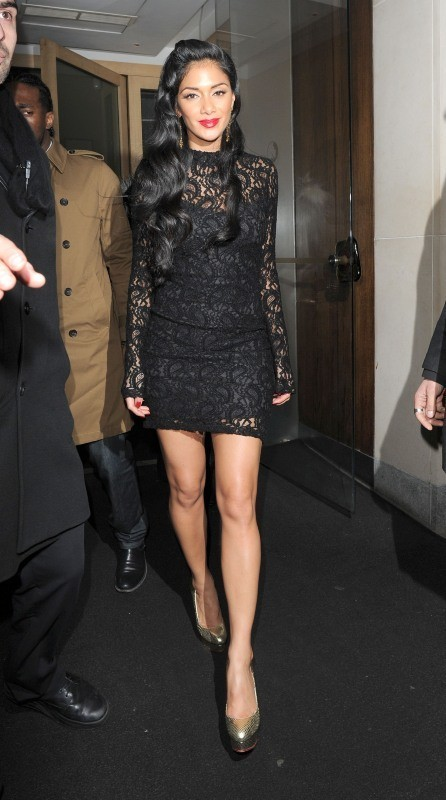 Nicole Scherzinger le 25 novembre 2012 à Londres