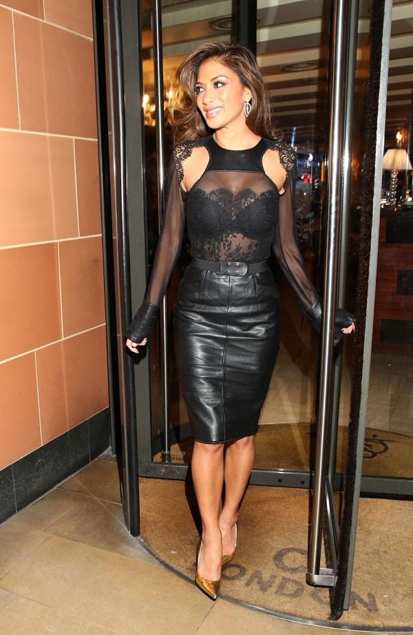 Nicole Scherzinger à Londres le 1er décembre 2013