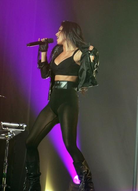 Nicole Scherzinger en concert à Manchester, le 22 février 2012.