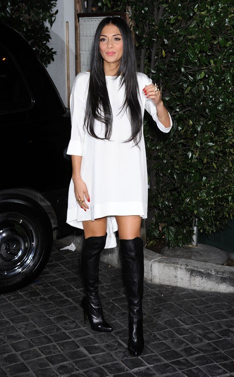 Nicole Scherzinger à la soirée Topshop, à Los Angeles, le 13 février 2013