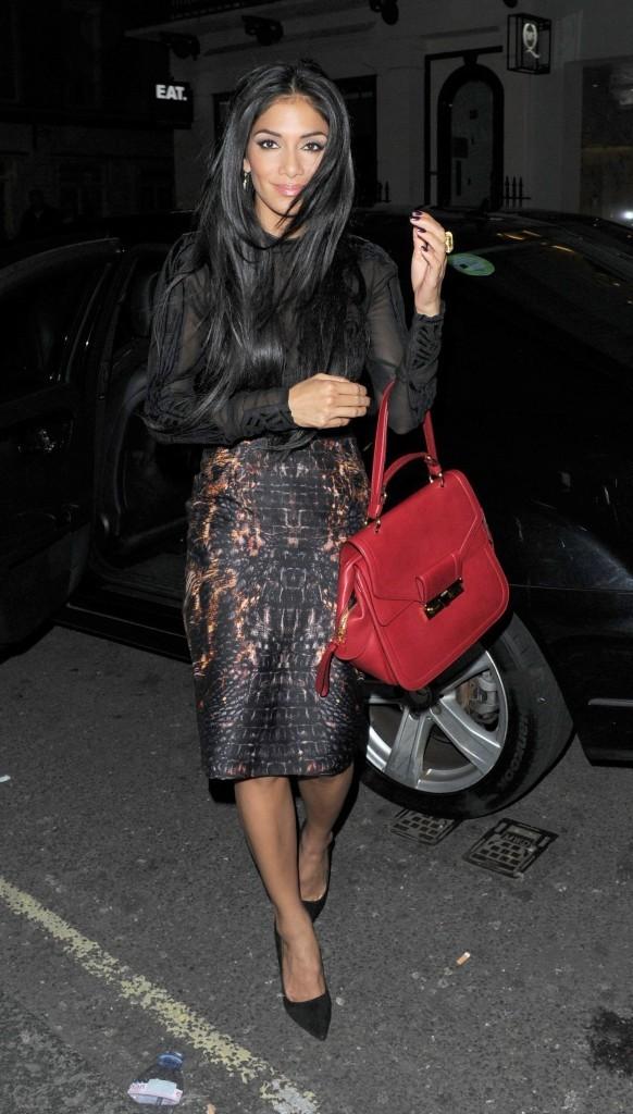 Nicole Scherzinger à Londres, le 9 octobre 2012.