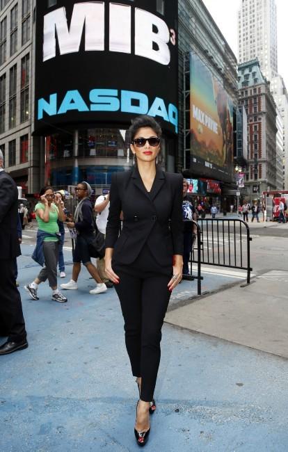 Nicole Scherzinger en promo pour MIB 3 à Times Square, le 23 mai 2012.