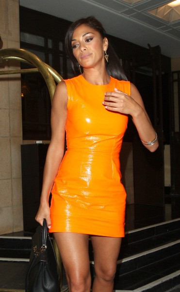 Nicole Scherzinger à Londres, très tôt ce jeudi 18 juillet 2013.