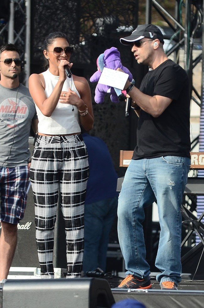 Nicole Scherzinger et Eros Ramazzotti le 27 juin 2013 à Rome