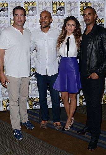 Rob Riggle, Keegan-Michael Key, Nina Dobrev et Damon Wayans Jr. à San Diego le 25 juillet 2014