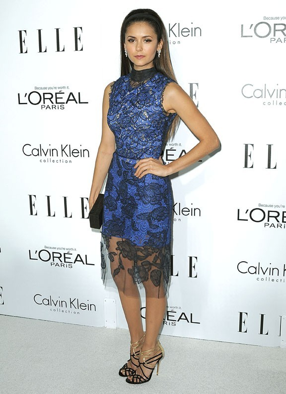 Nina Dobrev à la soirée ELLE Women in Hollywood le 15 octobre 2012