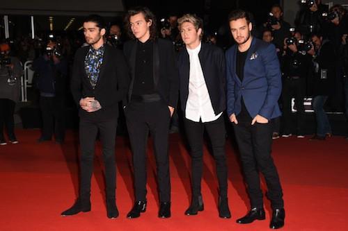 Les One Direction aux NMA 2014 à Cannes, le 13 décembre 2014