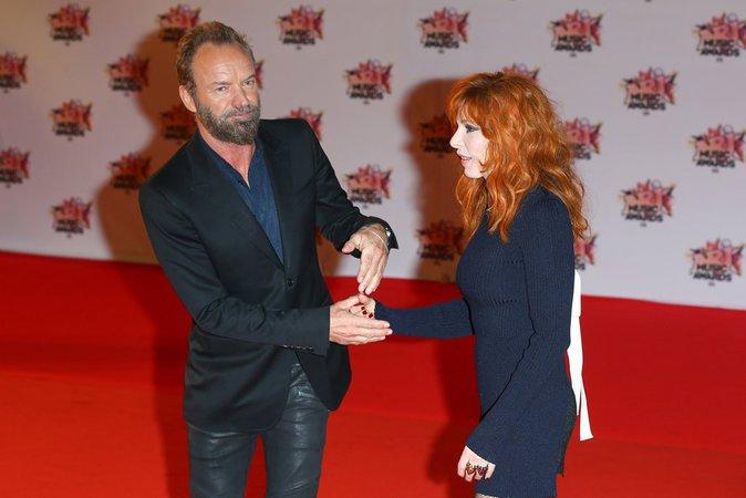 Sting et Mylène Farmer complices aux NMA 2015 !