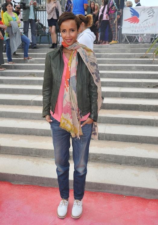 Sonia Rolland à la Fête des Tuileries le 22 juin 2012