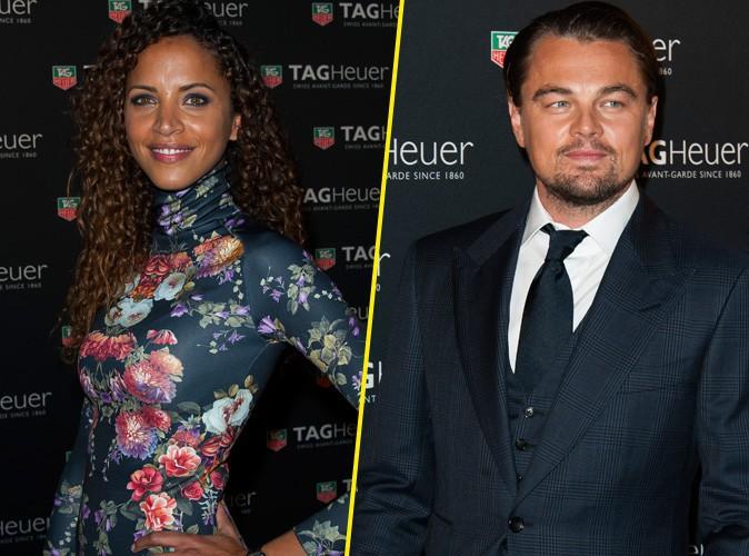 Noémie Lenoir et Leonardo DiCaprio à la soirée Tag Heuer organisée au Pavillon Vendôme, à Paris, le 6 novembre 2013