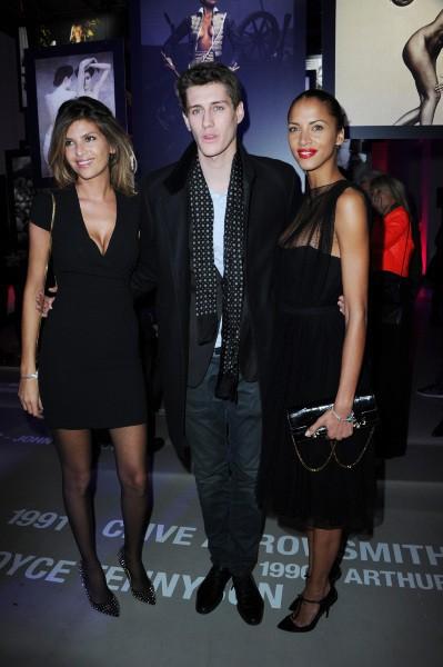 Isabelle Funaro, Jean-Baptiste Maunier et Noémie Lenoir lors de la soirée des 50 ans du calendrier Pirelli à Paris, le 30 janvier 2014.