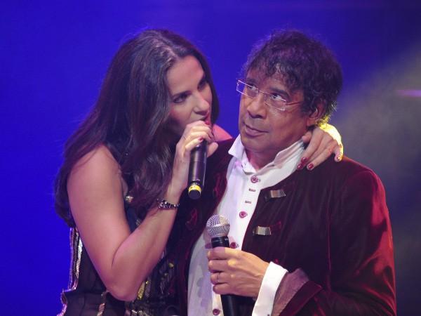 Elisa Tovati et Laurent Voulzy lors du gala de la Fondation pour la recherche sur Alzheimer au Cirque d'Hiver à Paris, le 25 septembre 2013.